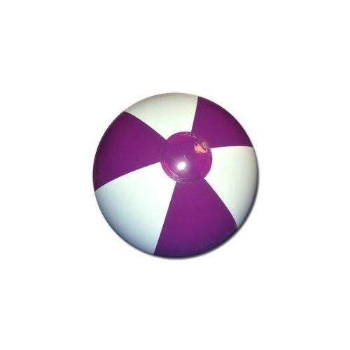 Beachballs - 16'' Purple & White Beach Ball