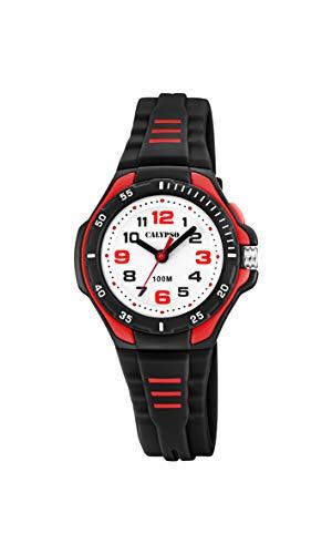 Calypso Unisex Kinder Analog Quarz Uhr mit Plastik Armband K5757/6