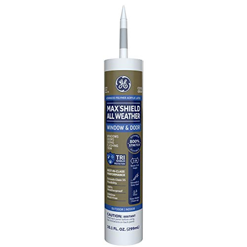 GE Momentive Performance Materials GE Max Shield All Weather Siliconized Acrylic Latex Sealant Caulk, Cool Gray, 10.1oz, MAWD410CG