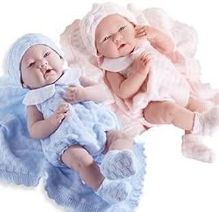 JC Toys La Newborn Pretty Knit Girl and Boy Twin Dolls Baby Dolls