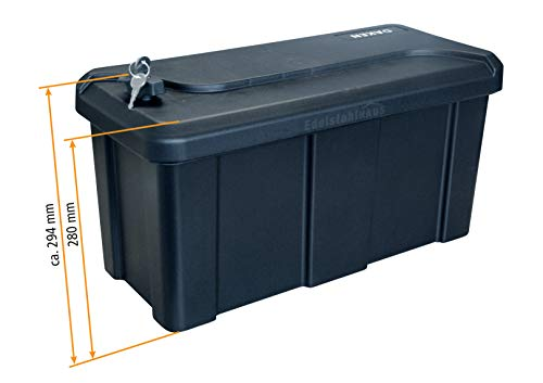 Deichselbox mit Schloss, Werkzeugkasten für Anhänger Staukiste 23 ltr Anhängerbox, Daken B23-1 - 5