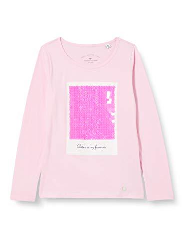 TOM TAILOR Baby-Mädchen Langarmshirt T-Shirt, Lilac Sachet Rose, 104/110