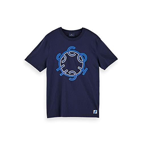 Scotch & Soda 156804 - Maglietta da uomo con logo notte XXL