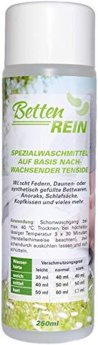 Donswasmiddel: Beddenzuiver, het zachte wasmiddeldons voor donskussen, donzen dekens, donsjassen, anoraks, slaapzakken en meer | 250 ml