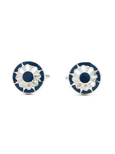 [ビームスエフ] ELIZABETH PARKER エリザベスパーカー カフスボタン サンフラワー カフリンクス 21420070380 メンズ BLUE / 2522 One Size