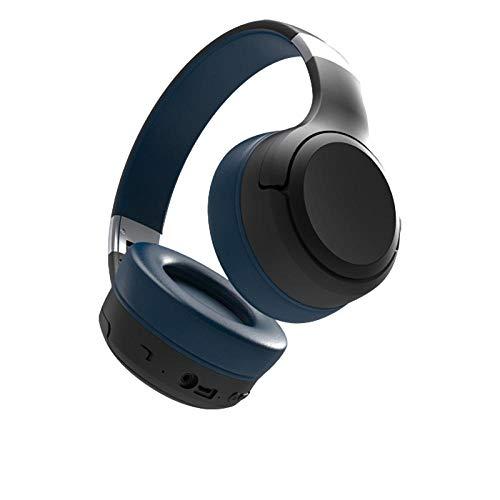 Auriculares Bluetooth Plegables montados en la Cabeza Auriculares Suaves y cómodos Auriculares en Espera superlargos-Azul
