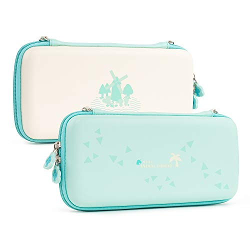 GeekShare Carrying Case for Nintendo Switch - Animal Crossing New Horizons Accessories Portable Slim Travel Carrying Case fit Switch Console & Game Accessories