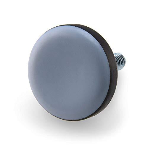 GLEITGUT 16 x Teflongleiter Mit Gewinde M6 Gleitfläche 22 mm Möbelgleiter PTFE Stuhlgleiter Möbelfuß Stellschrauben