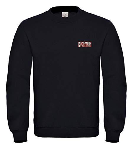 Led Zeppelin Musik Rock Icon Fun Bestickte Logo Sweatshirts VIP super Qualität 100% Cotton - 6156 - Sw (L)