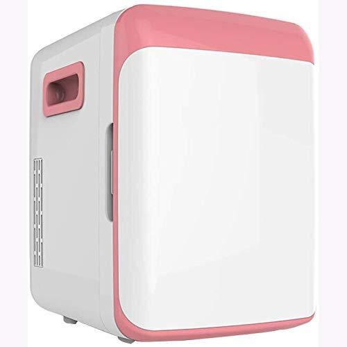 Rindasr Mini Nevera pequeña, 10L Electricidad refrigeración y conservación de Calor del refrigerador, congelador Dormitorio de Oficina, Acampar al Aire Libre de Bebidas portátil de refrigeración