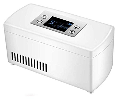SHUHANG Refrigerador Frigorífico Coche Refrigerador Portátil Mini Insulina Caja refrigerada Refrigerador médico Refrigerador de Drogas Adecuado (Color : White, Size : 210mmX106mmX95mm)