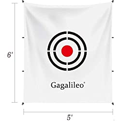 GREAT GOLF TARGET REPLACEMENT: Golf Target Display Dimensions: 5x6 FT(1.5x1.8m).White color. Made of high quality with very high endurance material and visable great color print.Galileo sports provides lifetime warranty,feel free to contact us if any...