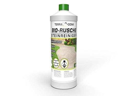 Terra Domi 1 Liter Bio Rusche für 50m², biologisches Reinigungsmittel für Außenanlagen, bienenfreundlich und biologisch abbaubar, mit natürlichen Inhaltsstoffen, Steinreinger für Wege und Plätze