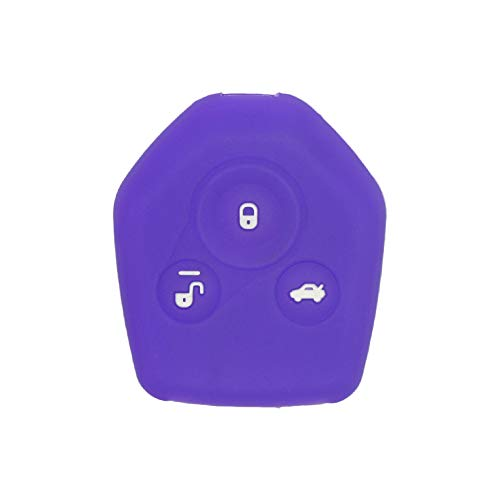 SEGADEN Silicone Cover Protector Case Holder Skin Jacket Compatible with SUBARU 3 Button Remote Key Fob CV4253 Deep Purple