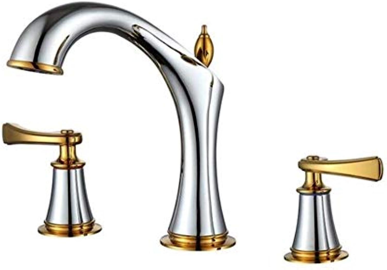 Mit Ausziehbarem Schlauch, Horizontaler Stange, Küchenarmaturwasserhahn Toilette Wasserhahn Mischer Doppelgriff Wasserhahn Deck Montiert