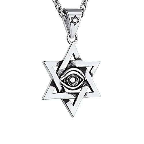 Men Stainless Steel Vintage Egyptian Eye of Horus...