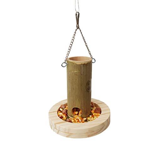 Yardwe Feeder Cup Bambus Vogel Papagei Haustier Fütterung Cup Hängen Outdoor Wasser Lebensmittel Landwirtschaft Ausrüstung Tierkäfig Schüssel Futterspielzeug
