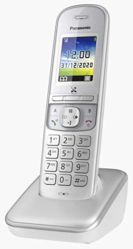 Panasonic Schnurlostelefon KX-TGH710GG mit Farbdisplay, Babyphone und Eco Plus Modus