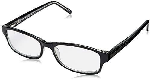 Foster Grant James Multifocus Rectangular Reading Glasses, Black/Transparent, 53 mm + 2.75