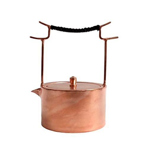 Theepotten gietijzer Dubbele haak Cook Theepot Pure Koper Dikke Handgemaakte Pot Cover Theepot Koper Theepotten Thee Set