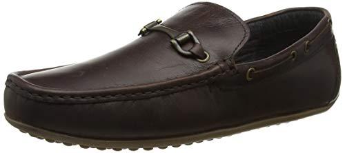 Red Tape Men's Fenton Loafers, Brown (Wood 0), 8 UK(42 EU)