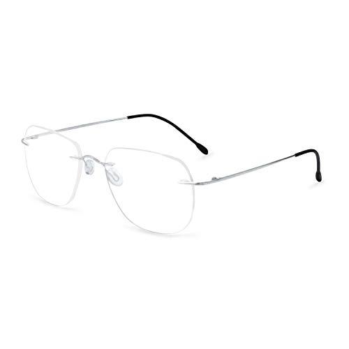 OCCI CHIARI Titanium Rimless Glasses Frame Fashion Eyewear Men Eyeglasses Hinge