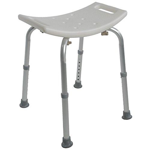 Bath & Shower Adjustable Safety Seat/Bench (White)