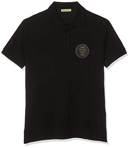 Versace Jeans Couture Herren Man T-Shirt Poloshirt, Schwarz (Nero 899), Large (Herstellergröße: 50.0)