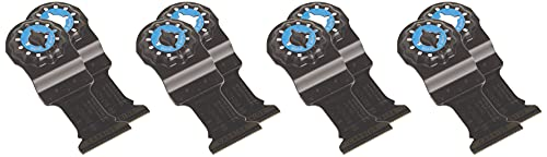 """BOSCH Starlock Carbide Oscillating Tool Blades, Multi Tool Blades for Cutting Iron Bar, Metal, Wood with Nails, Drywall and Tile, 10-Pack, 1-1/4"""" Width (OSL114C-10)"""