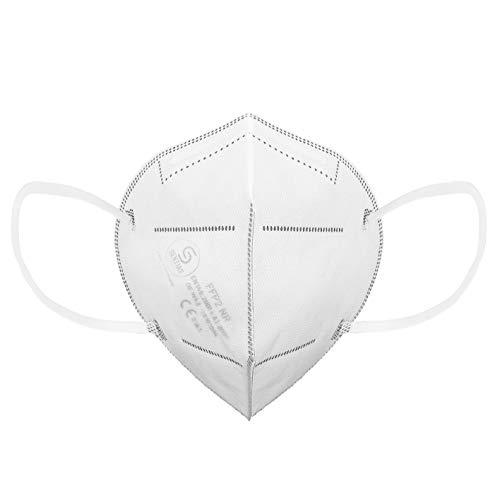 SENTIAS Mundschutz FFP2 Atemschutzmaske DEKRA 20er Set | DEUTSCHE HERSTELLUNG, geprüft und Zertifiziert in Deutschland | CE Prüfziffer 2163