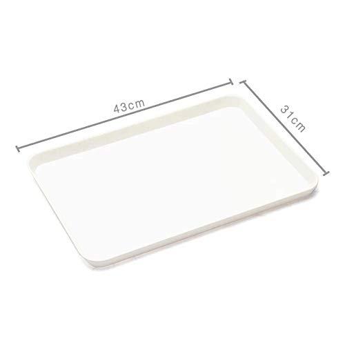 GYHJG Tee Tablett Raum Rechteckigen Melamin Kunststoff Tablett Wasser Tasse Tablett Tasse Tablett Nach Hause Weißbrot Tablett 43 * 31Cm