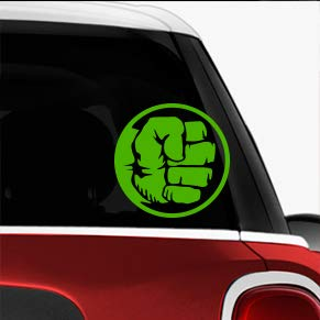 Hulk Fist Green SCI-FI/Comics/Games Automotive Decal/Bumper Sticker