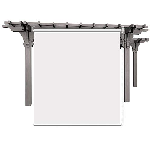 Persianas Enrollables Transparentes de Pérgola de Patio al Aire Libre, Cortina Transparente de PVC de Plástico Exterior, Fácil de Instalar, 60cm / 80cm / 100cm / 120cm de Ancho