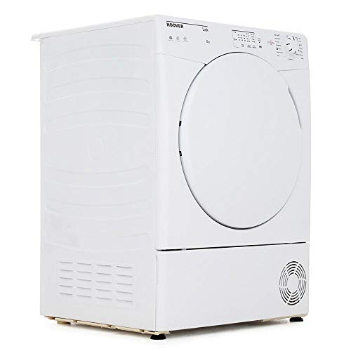 Hoover HLC8LF Link With One Touch 8kg Freestanding Sensor Condenser Tumble Dryer - White