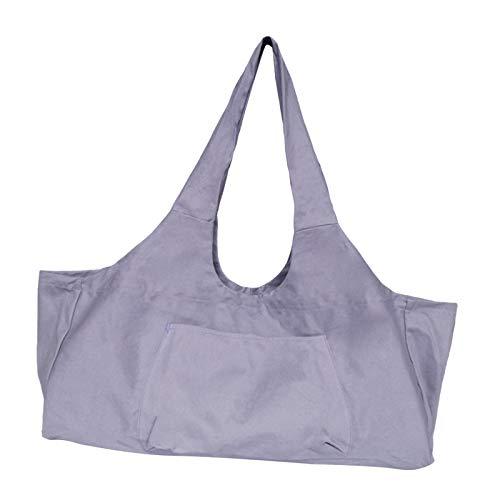 Perfeclan Tragbare Leinwand Yoga Matte Tasche für Männer Sport Gymtas Reise Tragen auf Gym Camping Große Kapazität - Lila