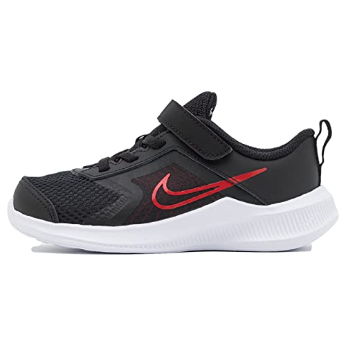 Nike Downshifter 11, Scarpe da Ginnastica Unisex-Bambini, Black/University Red-Dk Smoke Grey-White, 27 EU