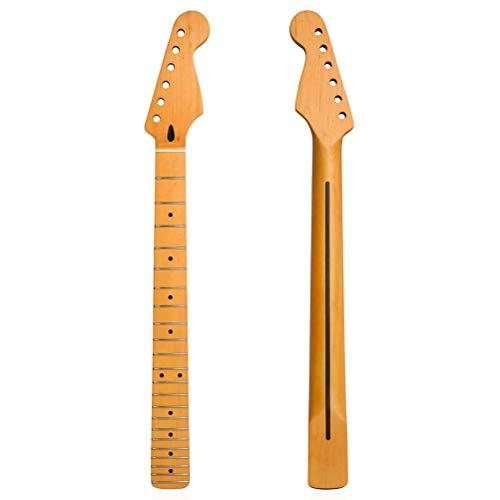 ExH Mástil de Guitarra Eléctrica,Repuesto de Piezas de Guitarra de Arce 22 Trastes Diapasón de Arce Repuesto de Mástil de Guitarra Sector de Diapasón Madera Guitarra Diy