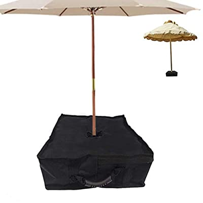 Jorohiker Umbrella Base Weight Bag, Fits Any Offset, Cantilever & Any Outdoor Patio Umbrella Stand, Heavy Duty Windproof Sand Filled Up to 110 lbs (Square New)
