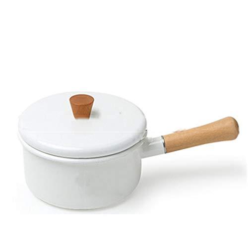 Emaille On Steel Round Covered Stockpot, Geëmailleerde Gietijzer Nederlandse Oven, kan worden gebruikt voor frituren, bakken, grillen, braden, braden, gemakkelijk te reinigen, onderhouden