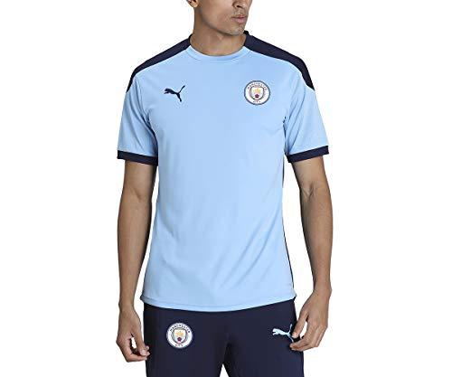 PUMA MCFC Training Jersey T-Shirt Homme Team Light Blue/Peacoat FR : 2XL (Taille Fabricant : XXL)