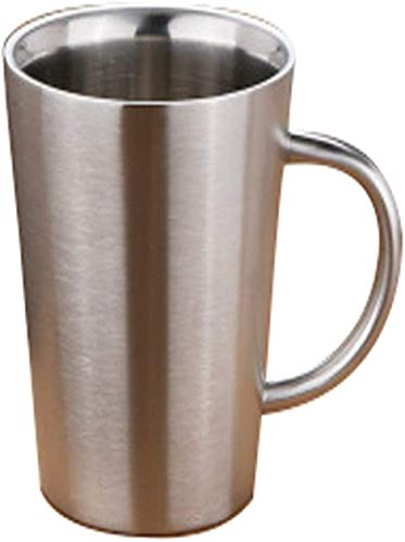 Inicio de café fabricante de golpe la mano La olla de acero inoxidable pulido Mejor Café / Doble Copa creativo, con aislamiento anti-escaldado de la manija, olla largo boca resistente al calor anti-es