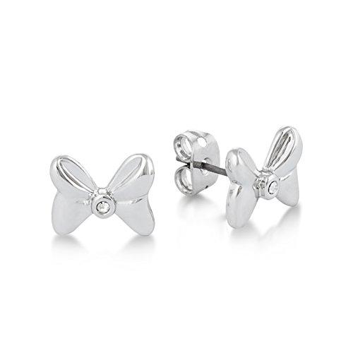Disney Couture Minnie Maus Rocks Weiß Vergoldet Kristall Schleife Ohrringe