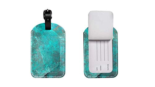Maleta de Etiqueta de Equipaje de Cuero de PU, Correa de Cuero Ajustable Resistente a los arañazos, diseño Elegante Colorful Scratch Gráficos