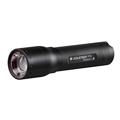 Ledlenser P7R LED Taschenlampe, fokussierbar, wiederaufladbar, mit Akku, 1000 Lumen, 210 Meter Leuchtweite, 40 Stunden Leuchtdauer