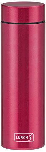 Lurch 240952 Lipstick Thermoflasche aus doppelwandigem Edelstahl 0,3 l Poppy Red