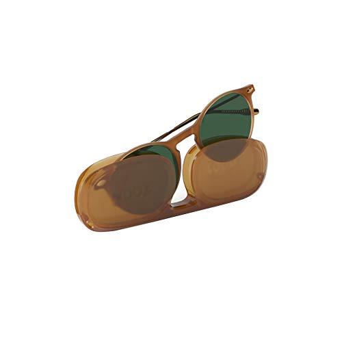 NOOZ Occhiali da sole polarizzati per uomo e donna - Protezione di categoria 3 - Colore miele - con custodia compatta - Collezione CRUZ