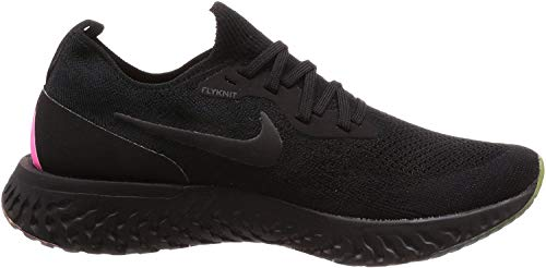 Nike Men's Epic React Flyknit BeTrue Black-Pink Running Shoes (8)