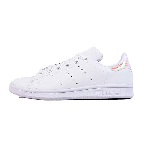 adidas Stan Smith J, Sneaker Unisex-Bambini, Bianco/Nero, 37 1/3 EU