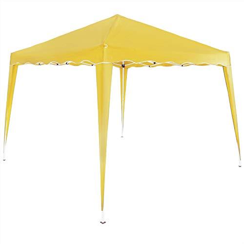 Deuba Gazebo da Giardino Capri 3x3m Pop-Up Protezione 50+ Impermiabile Tenda a Fisarmonica Giallo