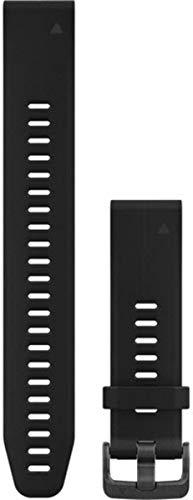 Garmin 010-12739-07 QuickFit 20 Uhrenarmband aus Silikon (groß) - Zubehör Band für fenix 5S Plus/fenix 5S Schwarz